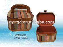 Stripe Canvas Handle Gift Case
