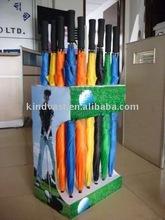Umbrella cardboard display stand