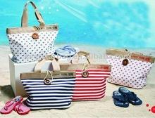 2011 fashional canvas beach bag