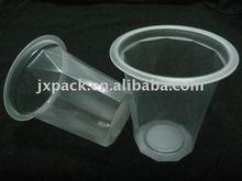 140ml slinky diamond shape plastic cup for food