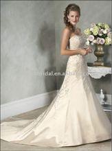 Style RZ-wd180 2012 Glamorous strapless embroidered satin lebanon designer wedding dresses