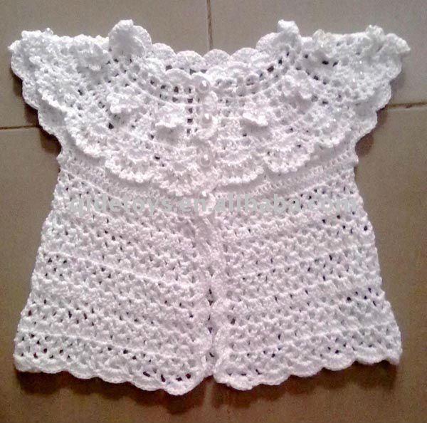 Como hacer un vestidito en crochet para bautizo - Imagui