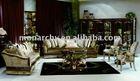 V098 classic wood carving living room furniture- sofa sets