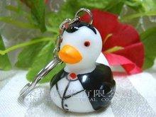 Halloween LED Duck Keychain