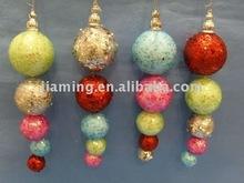 Decorativo del color del brillo de espuma de poliestireno colgante de bolas