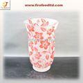decorativo flor florero de cristal