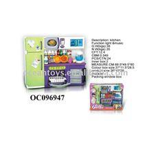 Hot sale preschool toy educational toy FASHION REFRIGERATOR W/LIGHT/MUSIC/BATTERY Ocean Toys