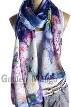 100% silk digital printing fashion scarves