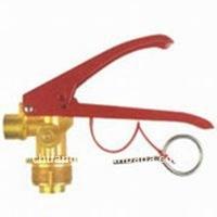 CO2 fire extinguisher valve
