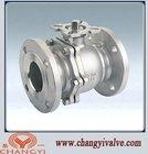ASME 2-piece high platform flanged ball valves