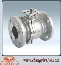 ASME 2-piece high platform flanged ball valves