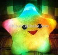 Colorful glowing pillow