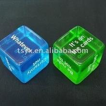 Acrylic printing dice
