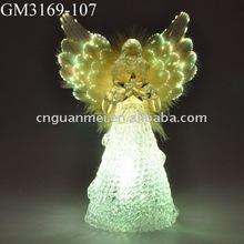 glass fiber optical angel with LED light