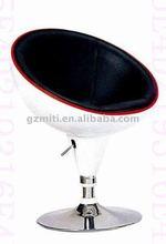 Modern bar chair white leather bar stool