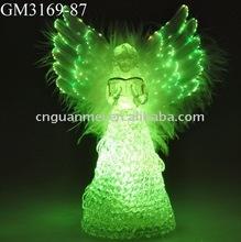 fiber optic angel with LED light