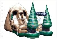Christmas tree inflatable slide