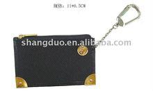 Metal logo ring coin purse