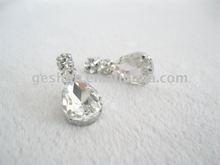 crystal and alloy tear earring