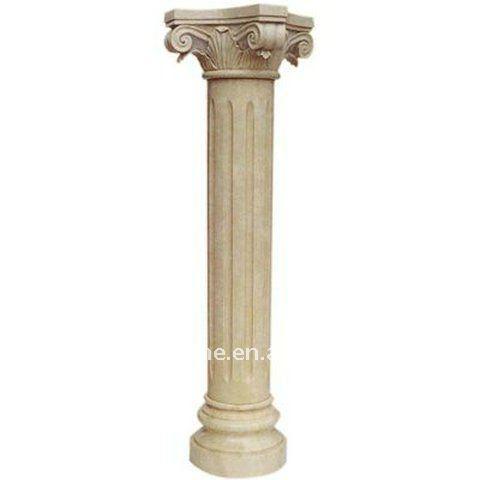 natural colored pillar decoration wedding