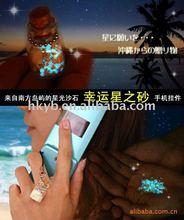 Japan night light glass sand art bottle/wish bottle/cellphone accessories