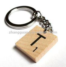 Latest design Scrabble Letter Tile Key chain