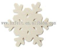White snowflake felt hangings for Christmas tree ornament