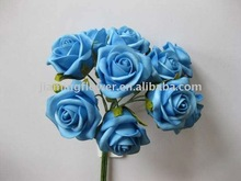 Decorated single stem Wedding use artificial flower, bouquet, hand made flowers all design all color