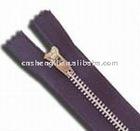 5# close-end metal zipper with nickel brass teeth