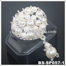 pearl and rhinestone buckle