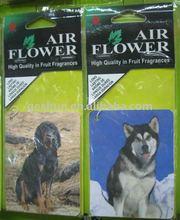 animal shape paper air freshener for car