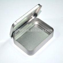 small hinged lid metal tin box packing