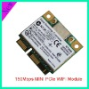 150Mbps Mini PCIe wifi module with external antenna