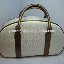 2012 hot sale high quality white big make up cosmetic bag