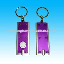 many colours promotion gift keychain light -- rectangle design