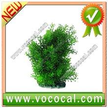 New Short Green Plastic Grass Plant Fish Tank Ornament