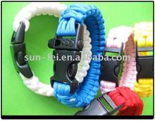 550 Paracord Survival Strap, Kids Survival Bracelet, Patriot Survival Straps Paracord