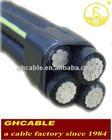 Overhead service drop Cable Duplex 4 AWG wire Aluminum