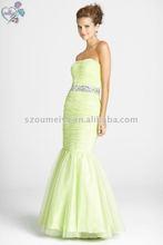 New Style Oumeiya OEP0030 Tulle Sage Prom Dresses 2012