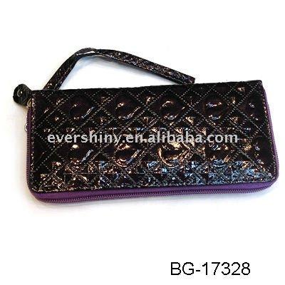 2011 latest charming oblong black PU purse