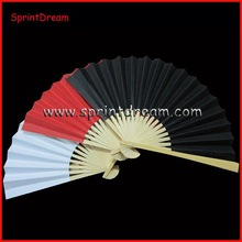 Colorful ! Bamboo blank paper fan