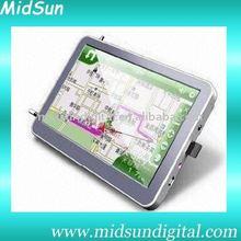 7 gps navigation wifi bluetooth,Windows CE 6.0,AV-in,128MB SDRAM,Built-in 4GB Flash Memory, Bluetooth, DVB-T,FM,DVD,VCD,MP3,MP4