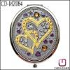 Wedding gift oval shape mirror compact CD-MZ084