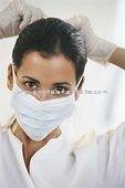 Surgical 145*95 White children tieback mask