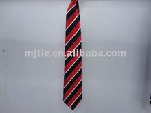 100% polyester striped necktie