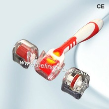 Cosmetic Facial Beauty Derma Roller Lessen Wrinkles,Pigment,Acne,Scar Treatment (LED Light+Changeable Head)