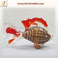 Marine fish blown glass craft