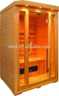 wooden sauna room