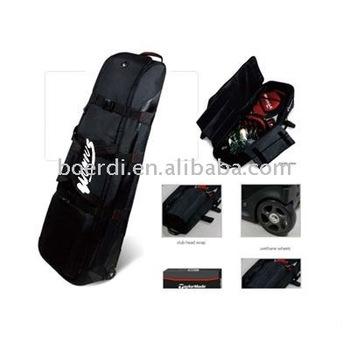 DISCOUNT! RPET black golf/travel/sport bag
