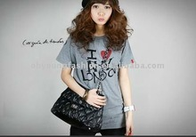 i love london words printed best casual and confortable crew neck short sleeve 90 cotton and 10 spandex t-shirt